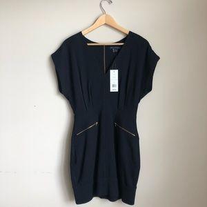 NWT French Connecticut Black V-Neck Minidress